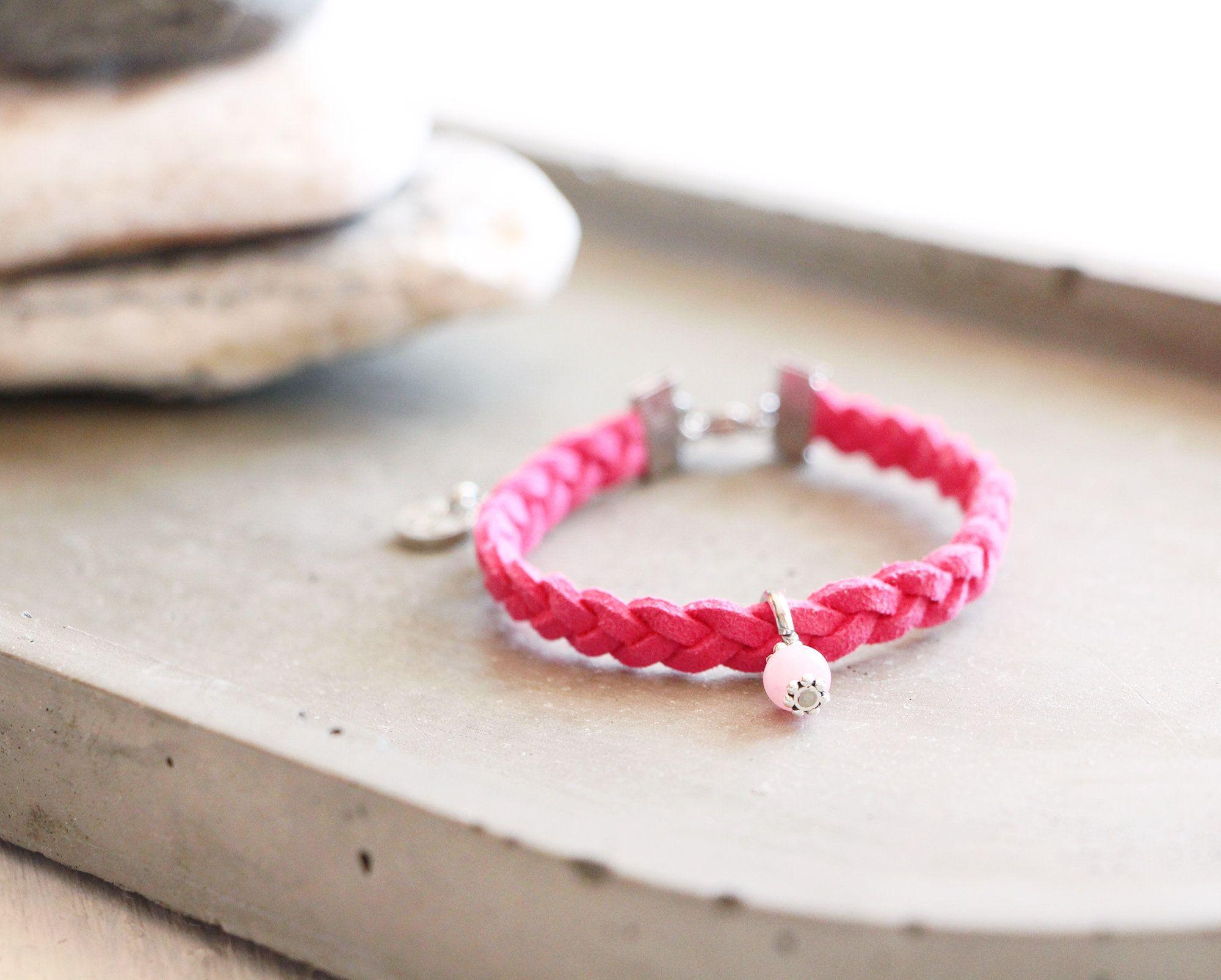 Bracelet pour Femme Tressé Rose