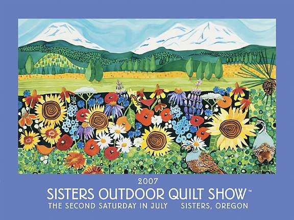 2007 sisters outdoor quilt show poster painting by kathy ... : quilt posters - Adamdwight.com
