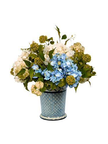 56% OFF Winward Potted Faux Hydrangea Mix, Blue/White