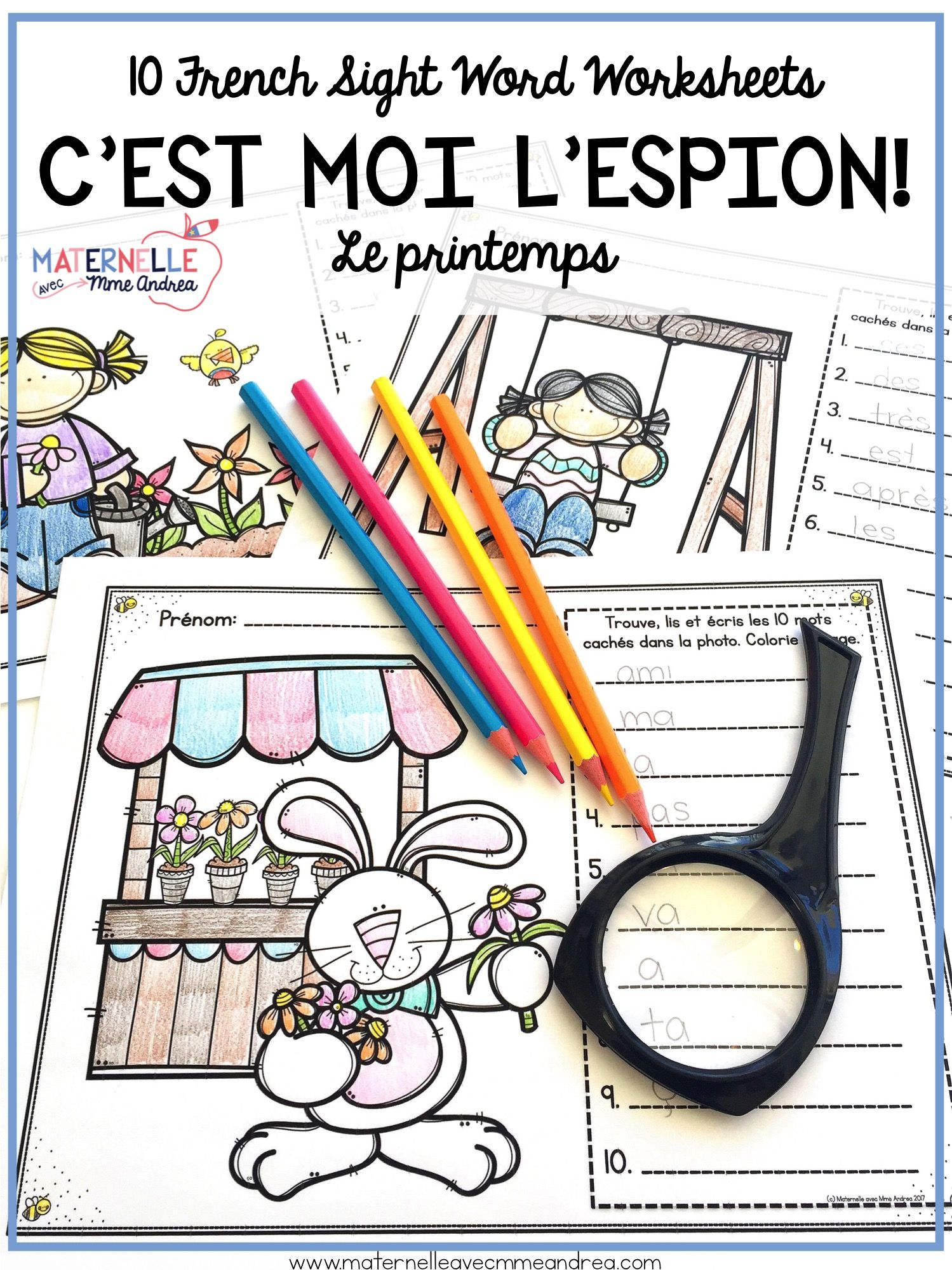 French Spring Sight Word Reading Amp Writing Practice