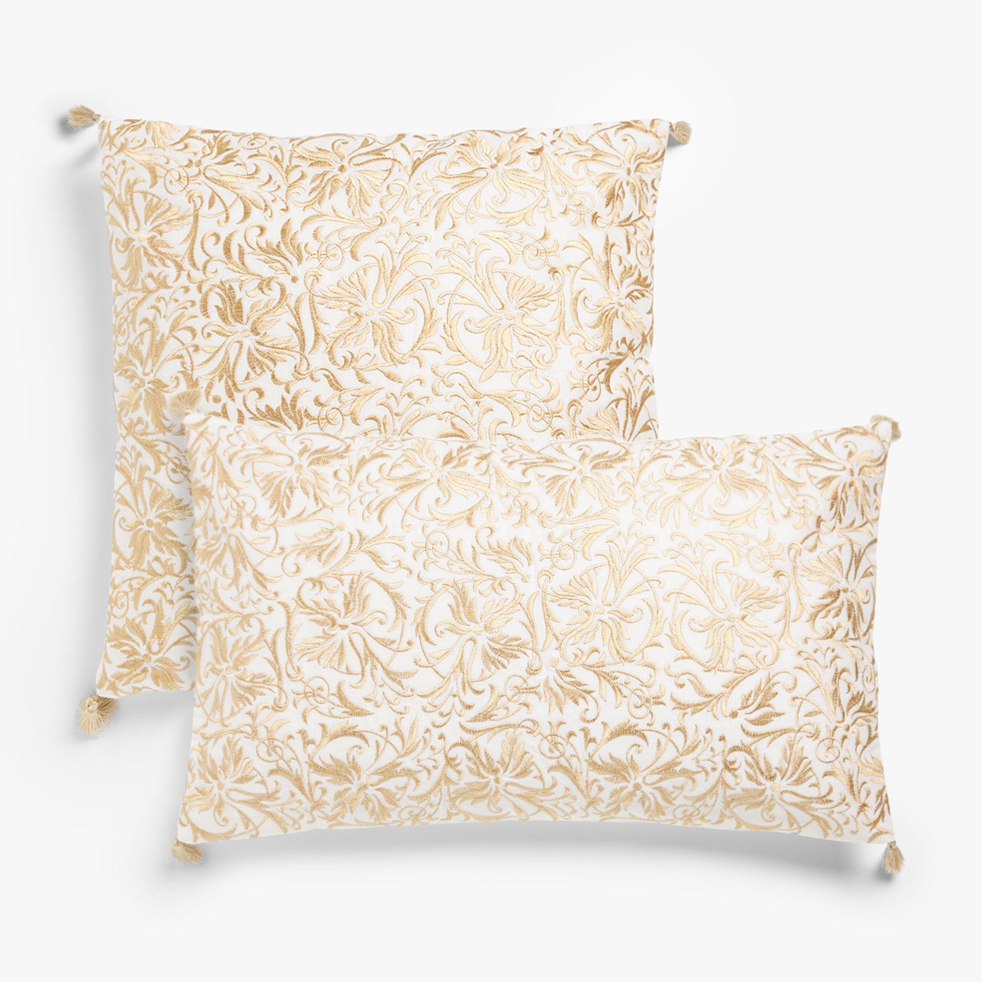 Εικόνα 1 του προϊόντος Κάλυμμα μαξιλαριού με χρυσαφί κέντημα