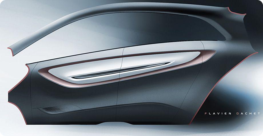 Tata Megapixel Concept Door Panel Design Sketch Car Body Design