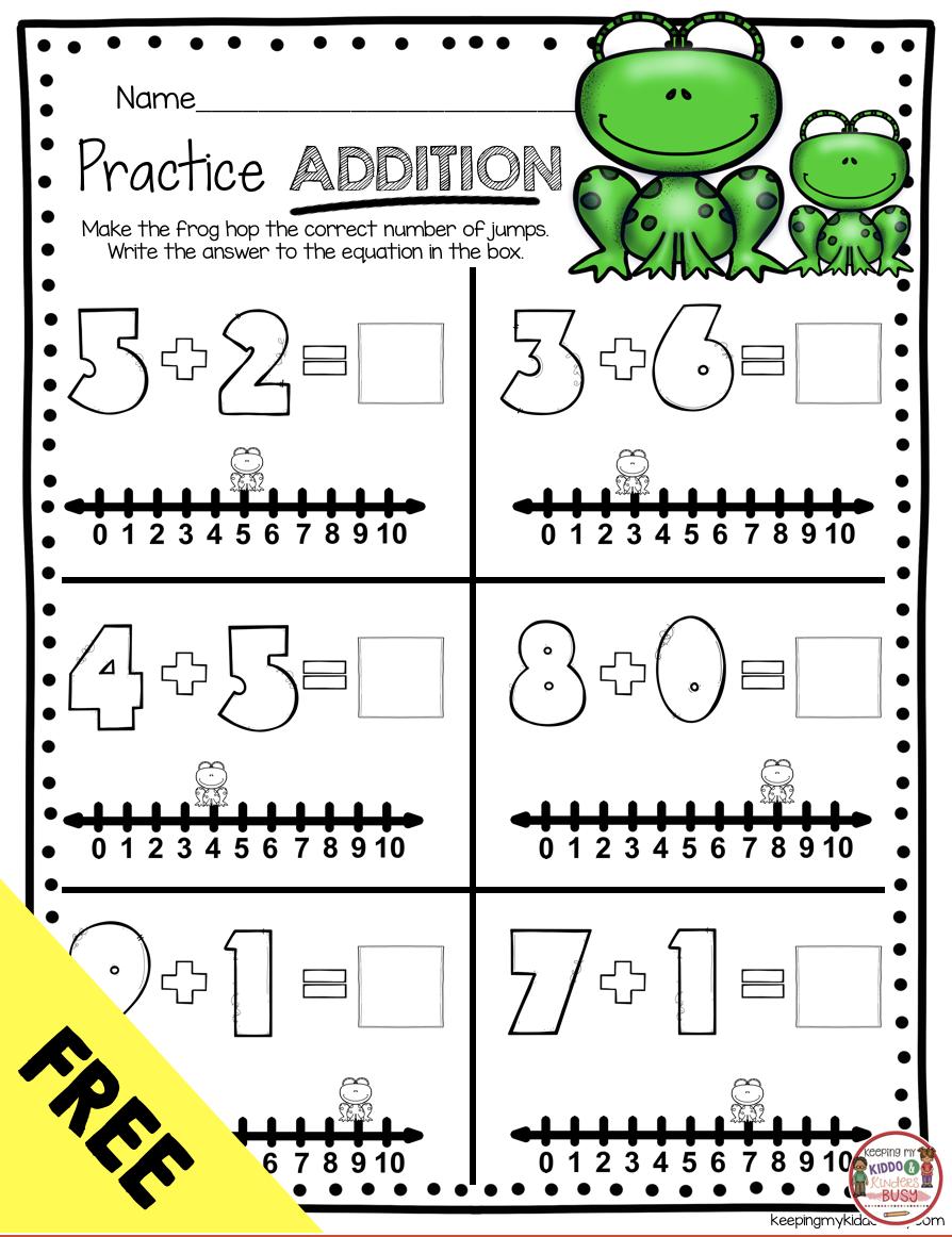Operations Algebraic Thinking Bundle Freebies Keeping My Kiddo Busy Kindergarten Addition Worksheets Addition Kindergarten Addition Worksheets [ 1162 x 894 Pixel ]