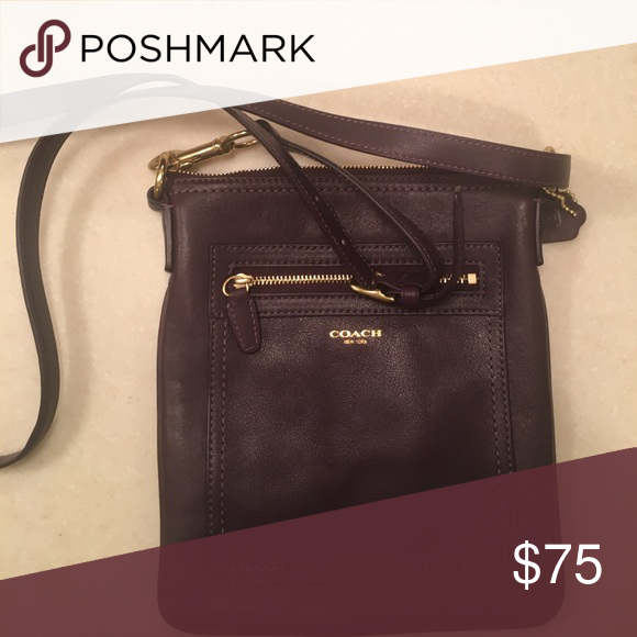 e7c12bd6014 COLOR CHOICE Coach Crossbody Coach crossbody. Never used, deep purple color  in perfect condition!