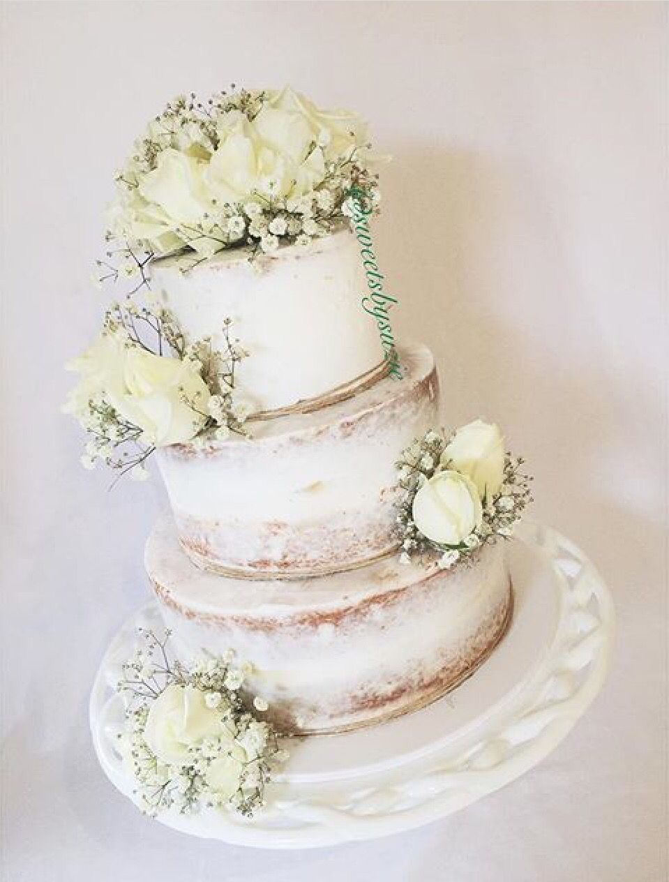 Semi naked wedding cake made by Sweetsbysuzie in Melbourne | cake ...
