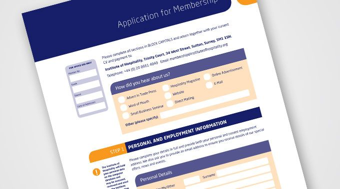 Application for Membership | Forms | Form design, Application form