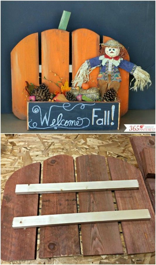 25 Fantastic Reclaimed Wood Halloween Decorations For Your Home And - halloween decorations at home