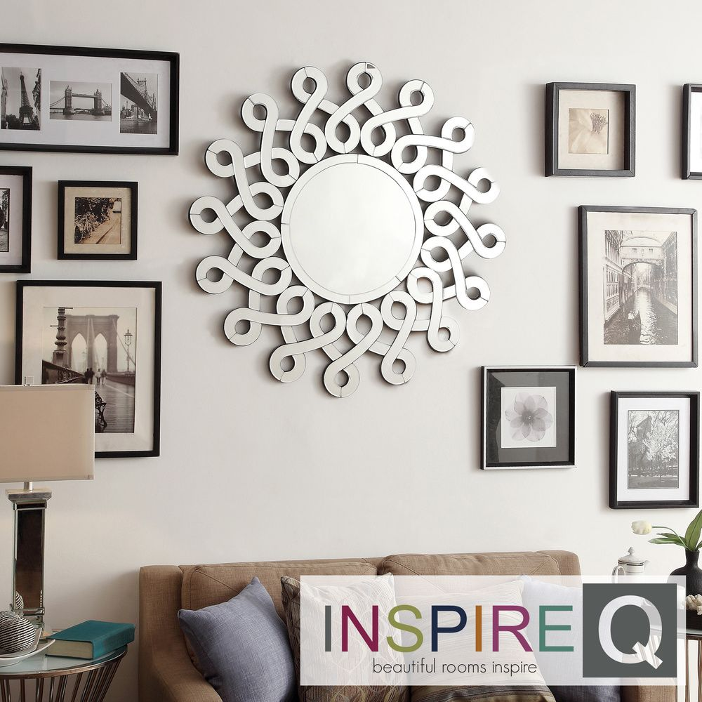 Inspire q nihoa silver interconnected curls sunburst accent wall inspire q nihoa silver interconnected curls sunburst accent wall mirror overstock shopping amipublicfo Choice Image