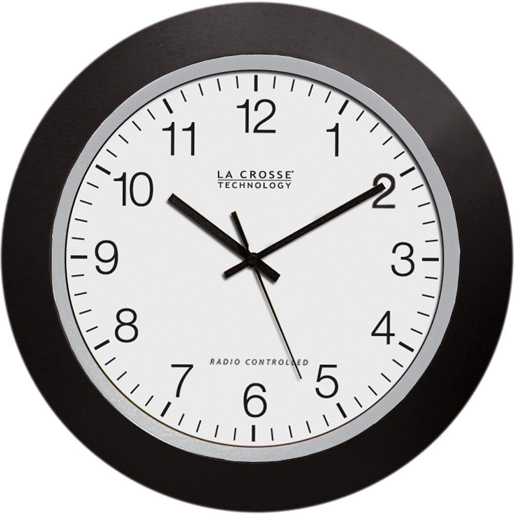 Online Analog Clock La Crosse 10 Inch Atomic Automatic Set Analog Indoor Wall Clock