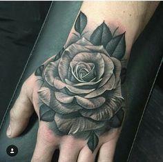 Rose Hand Tattoo More Tattoo Pinterest Tatouage Tatouage