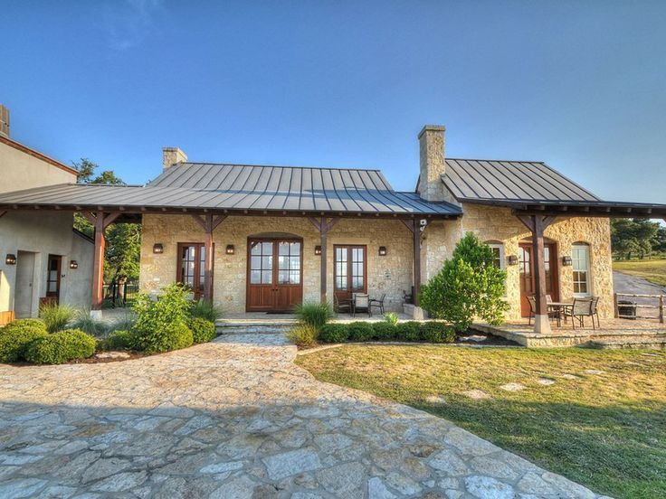 Texas hill country home design 12573537 for Hill country ranch home plans
