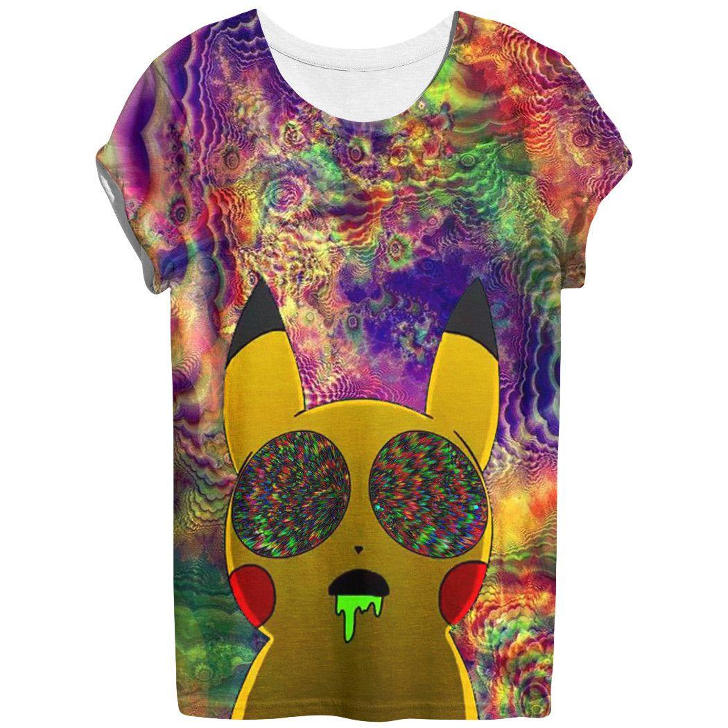972e215a Pikachu acid T-shirt | Trippy | Pikachu funny, Mens tops, T shirt