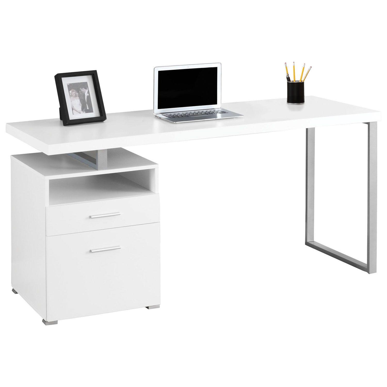 Bureau D 39 Ordinateur Contemporain Blanc Bureaux Et Postes De Travail Best Buy Can White Computer Desk Contemporary Computer Desk Desk With File Drawer