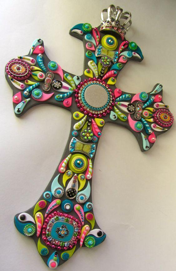 Burlap Cross, Rustic Cross, Mosaic Crosses, Wall Crosses, Decorative Crosses,  Decorative Walls, Cross Crafts, Cross Art, Cross Walls