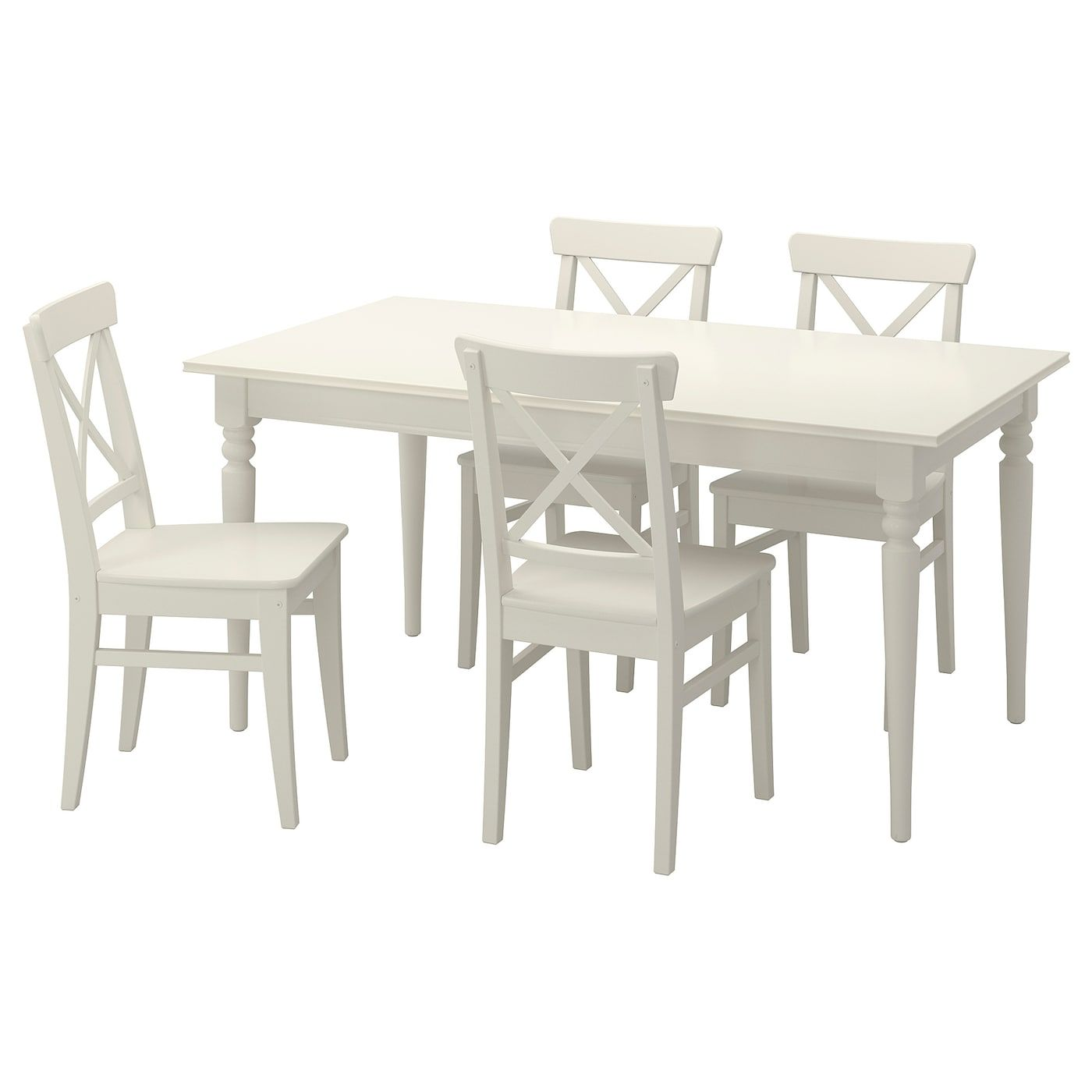 Ikea Ingatorp Ingolf White Table And 4 Chairs In 2020 Dining