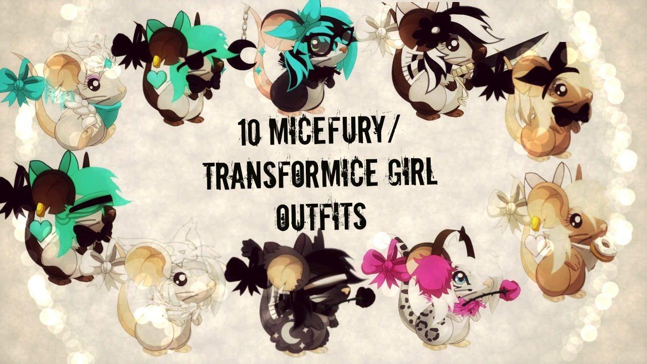 10 Transformice/Micefurry/Micegirl Girl Outfits