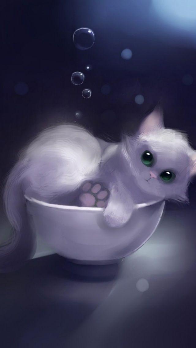 Animals Art Mobile Wallpaper Mobiles Wall Cute Cat Illustration Animal Paintings Animal Art