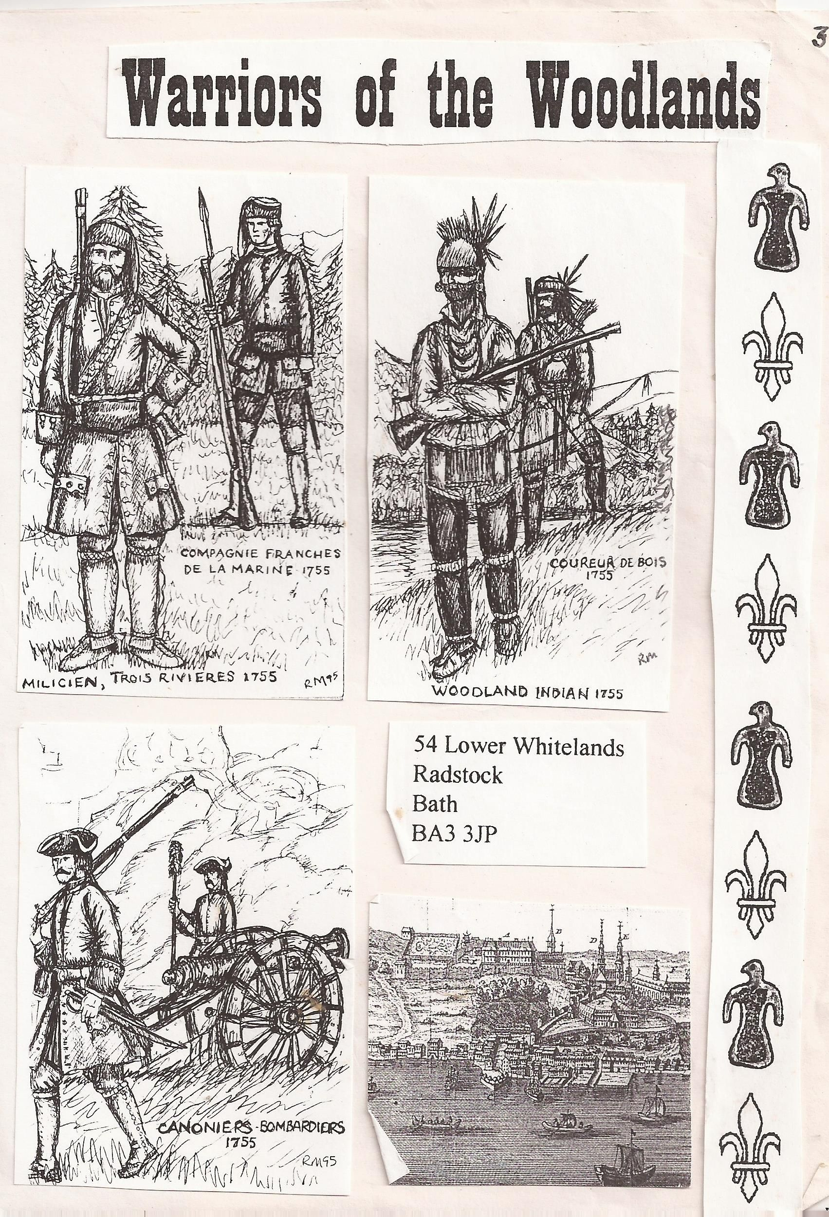 This is the first mail out of the organisation called New France originally recruiting French Indians and Canadians only, However the idea got a lot of interest from Redcoats etc