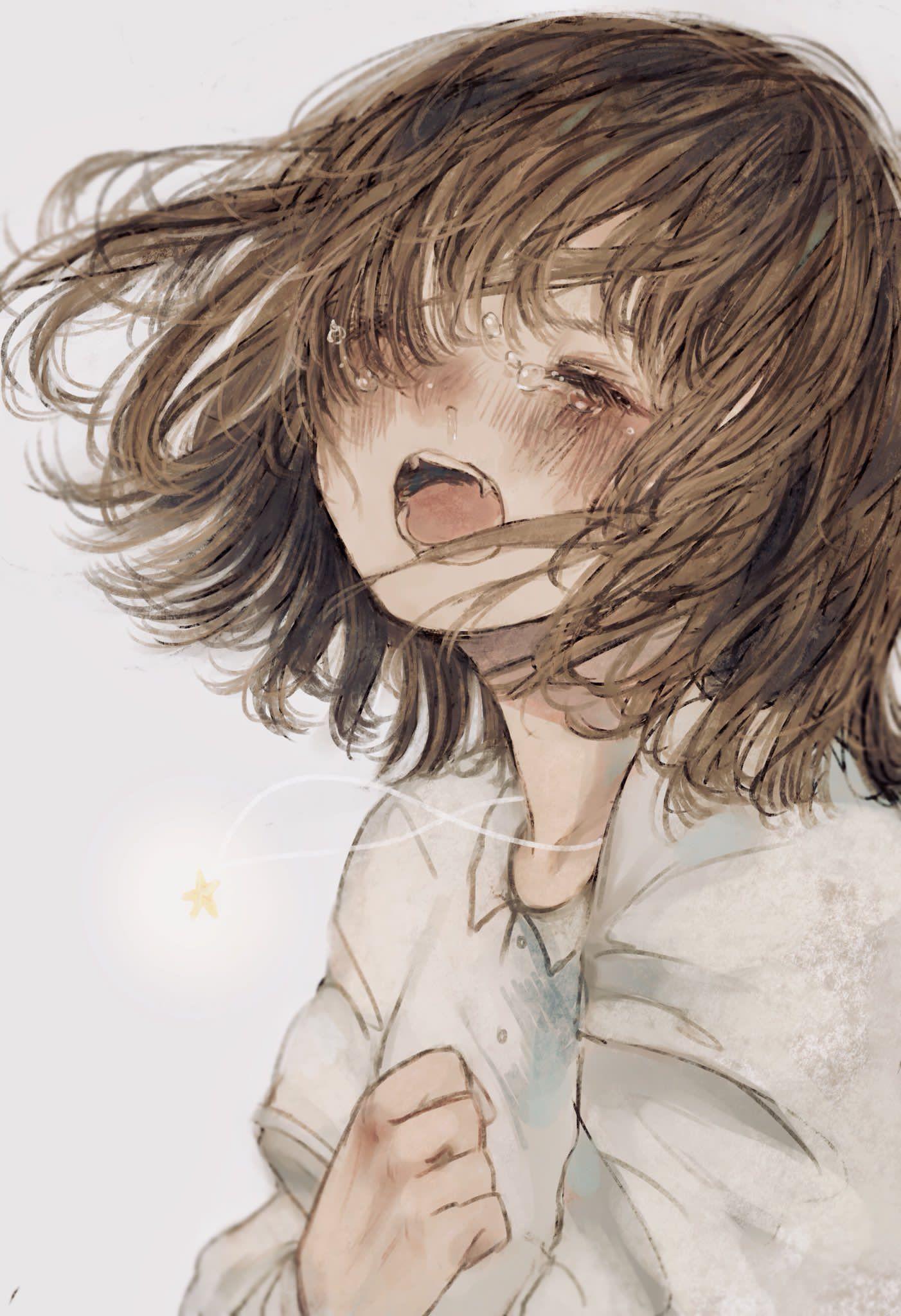 Картинки девушки аниме которая плачет