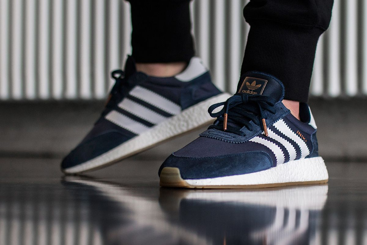 adidas iniki runner blue 2 On Foot: adidas INIKI Runner (Red & Collegiate  Navy
