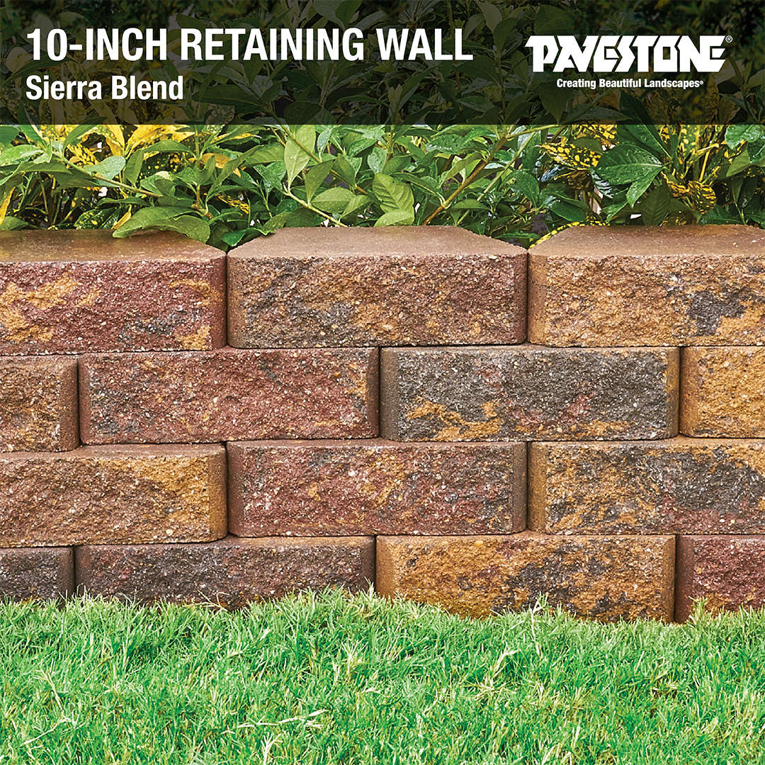 The Trapezoidal Shape Of The 10inch Retaining Wall Easily Forms