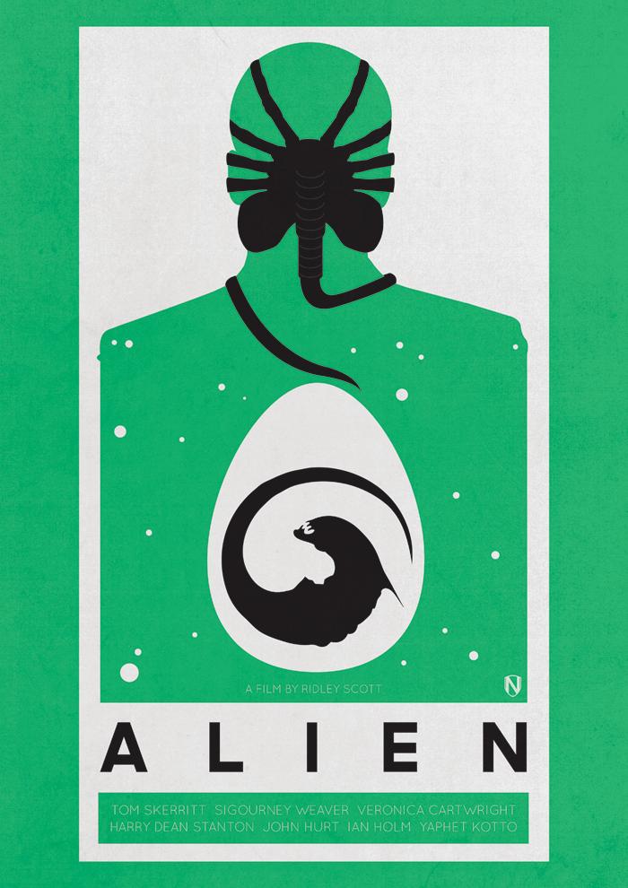 """Alien"" fan poster http://needledesign.bigcartel.com/product/alien"