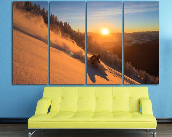 Große Ski Druck Wand-Dekor Schnee Skifahren Fotografie Winter ...