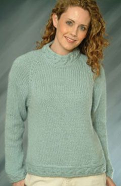 2a580eca2 Ladies Top Down Pullover Sweater - Free Knitting Pattern