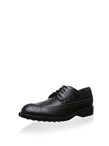Tod's Men's Dress Wingtip Oxford (Black)