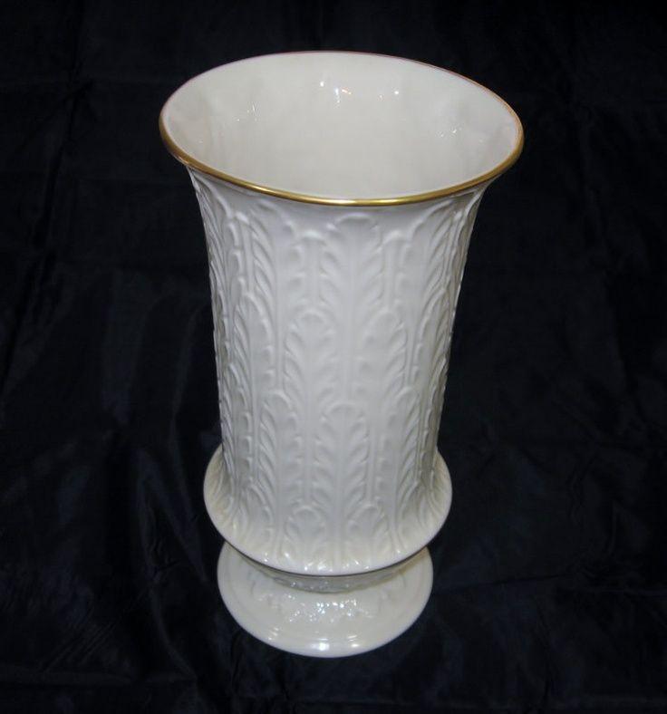 Vintage Lenox Vases | Vintage Porcelain Vase Lenox Autumn Leaf Tall.