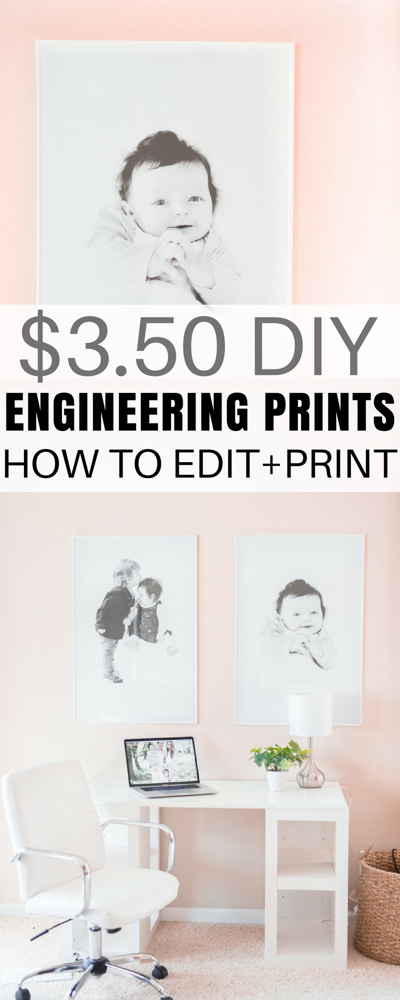 These Engineering Prints Are The Easy And Cheap Way To Print Large Photos  At Staples And The Whole Project, Including The Frame, Is Under $14.