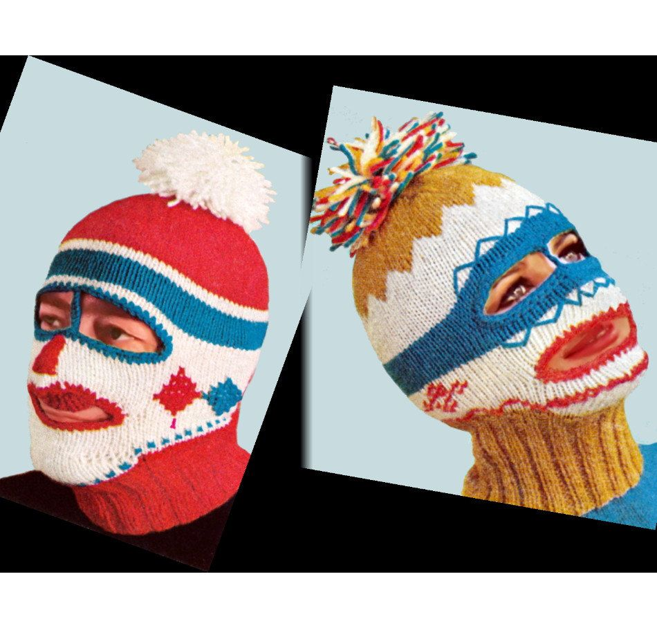 Ladies Balaclava Knitting Pattern : (Oh My!) 1960s Ski Mask Balaclava Dickey Helmet Mens/Womens: vintage knitting...