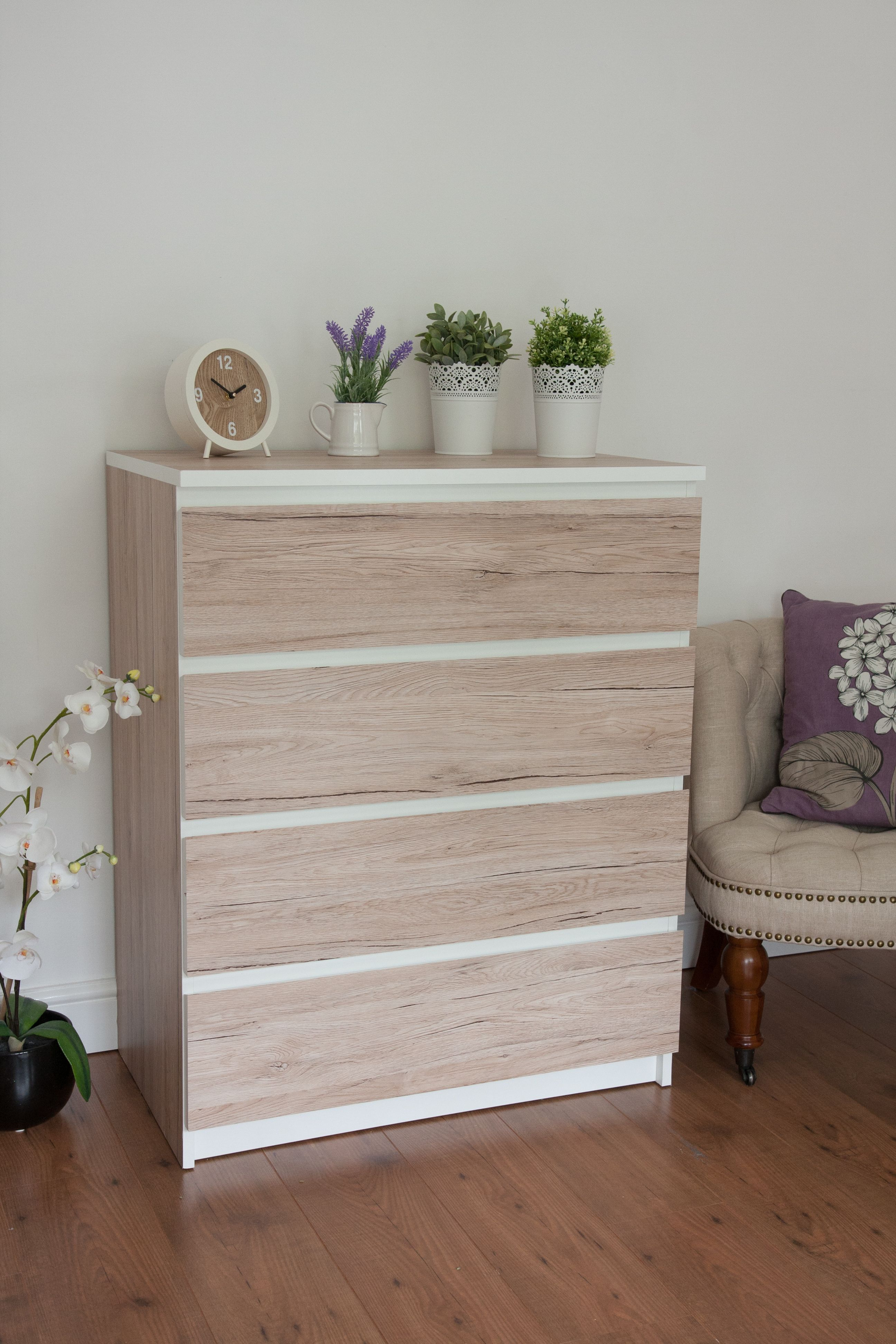 D C Fix® Sanremo Sand Self Adhesive Film Used To Update An Old Ikea Chest