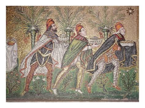 The Three Kings Giclee Print Art Com In 2020 Byzantine Art Three Magi Ravenna Mosaics