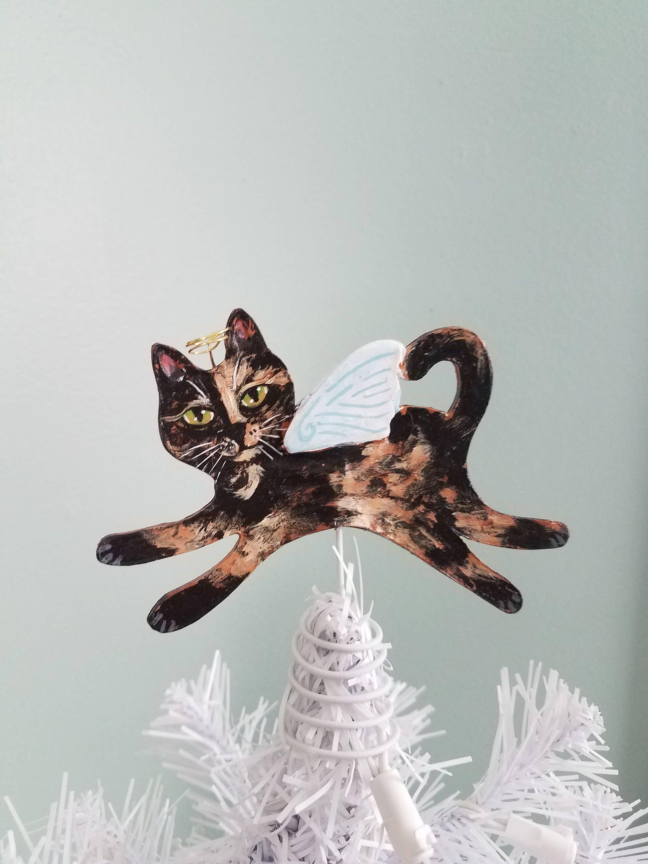 Cat Tree Topper Tortoiseshell Cat Cat Angel