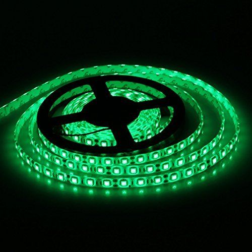 Xkttsueercrr Waterproof Green Led 5050 Smd 300led 5m Flexible Light Strip 12v 60led M Color Green Size 5050 Smd Model Green Led Strip Lighting Lamp Light