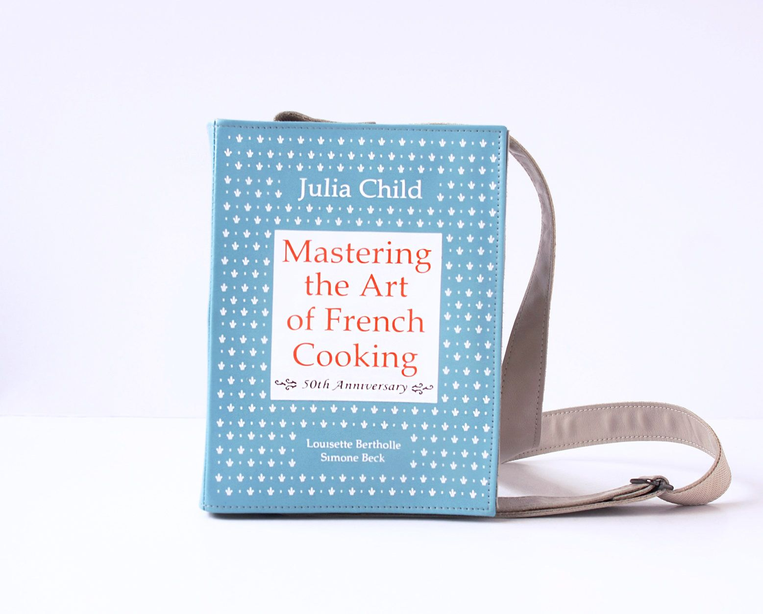 bc0e6303944d9 French Cooking Leather Book Bag Julia Child Book Purse