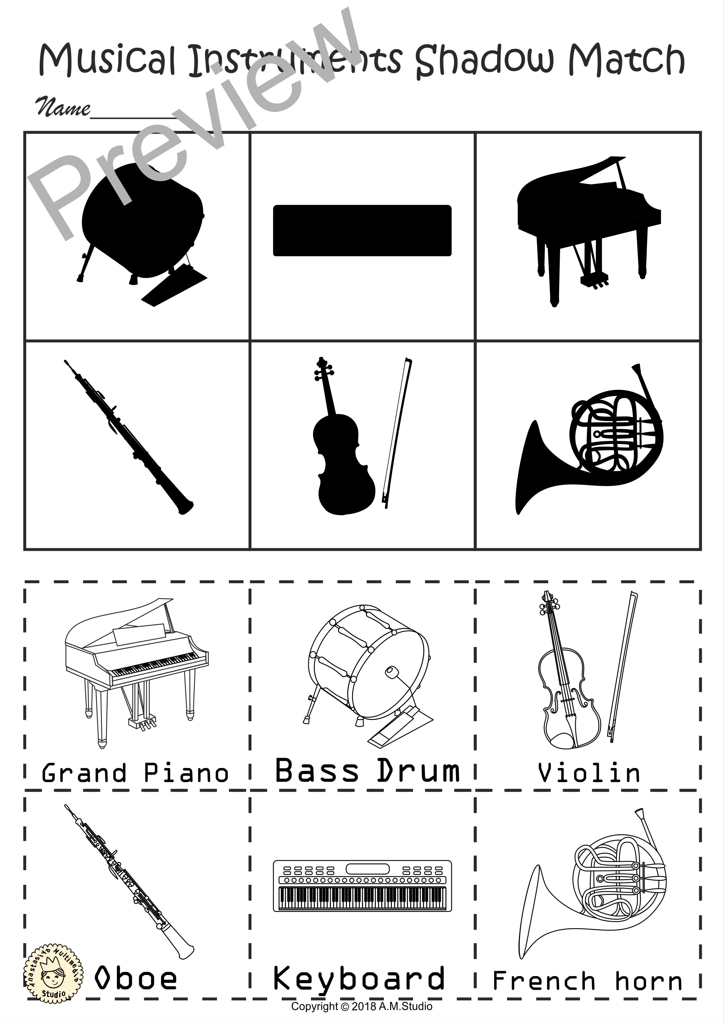 Pin On Musical Instrument Activities [ 3508 x 2482 Pixel ]