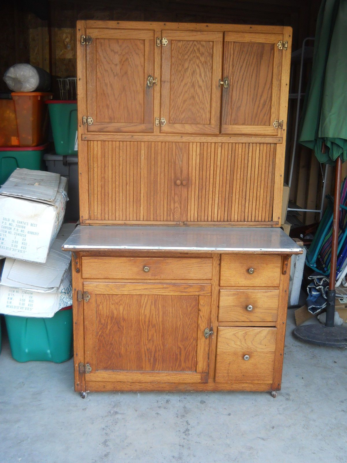 Antique Oak Hoosier Cabinet 42 Inches Wide Located In Illinois Hoosier Cabinet Cabinet Hoosier Cabinets
