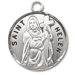 "Saint Helen 7/8"" Round Sterling Silver Medal"