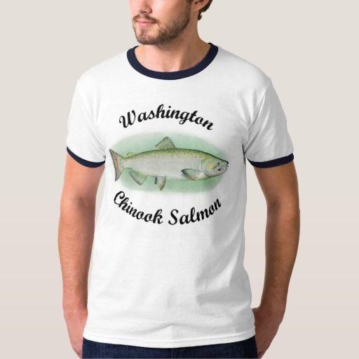 Washington Chinook Salmon Tee Shirt #Salmon #SalmonFishing #Chinook #ChinookSalmon
