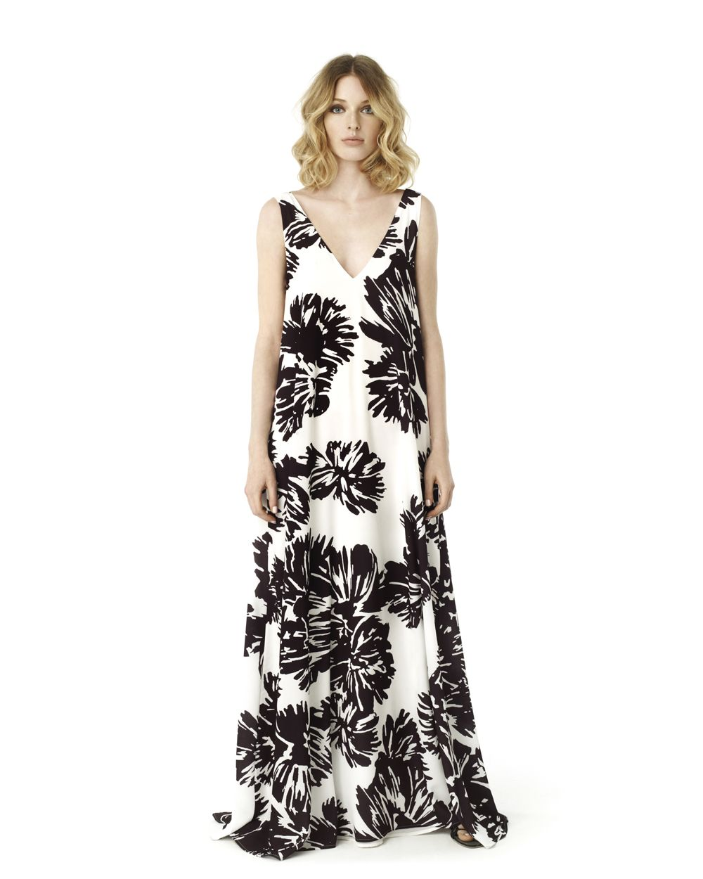 ced1b7bc15 Voluminous printed maxi dress
