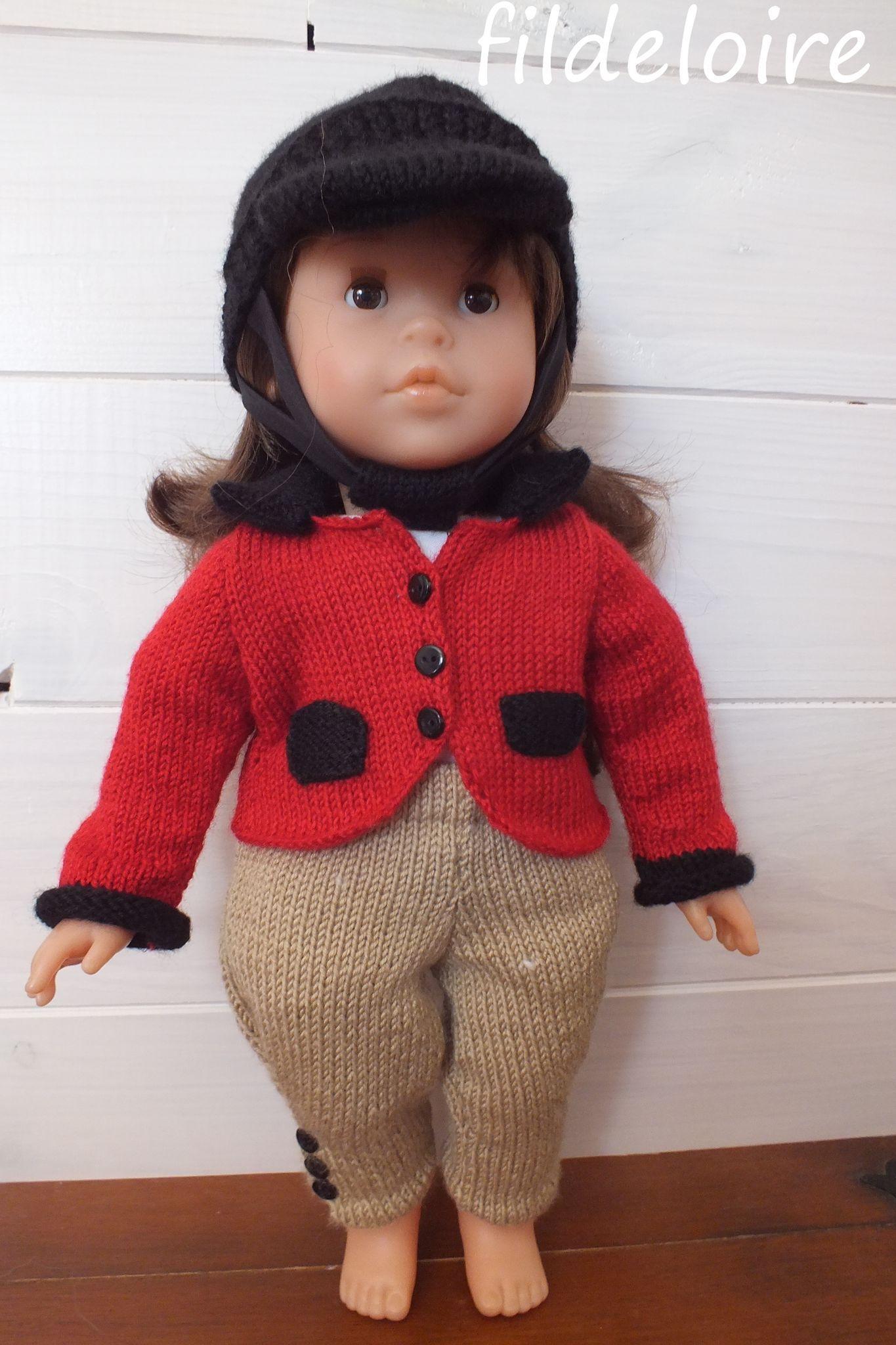 Tuto poupée Corolle de 42 cm, tenue d\'équitation - fildeloire | ROPA ...