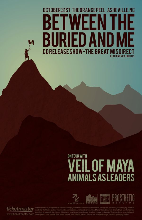 Between The Buried And Me Poster By Justin Foren Via Behance