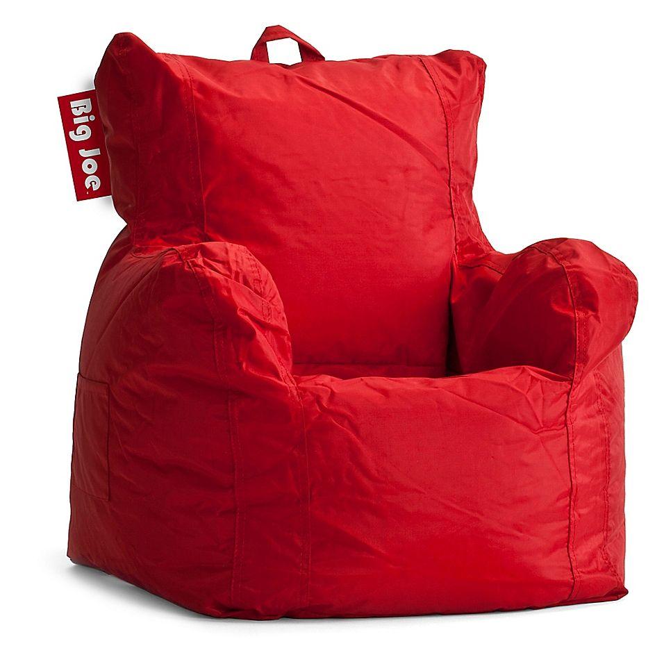 Big joe polyester cuddle bean bag chair in red bean bag