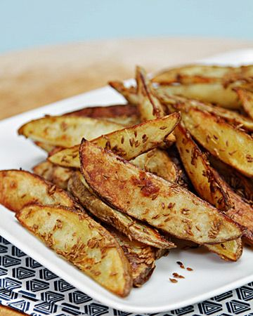 Cumin-Crusted Oven Fries -> minus the mayo for dipping.  Mayo for dipping? Really?