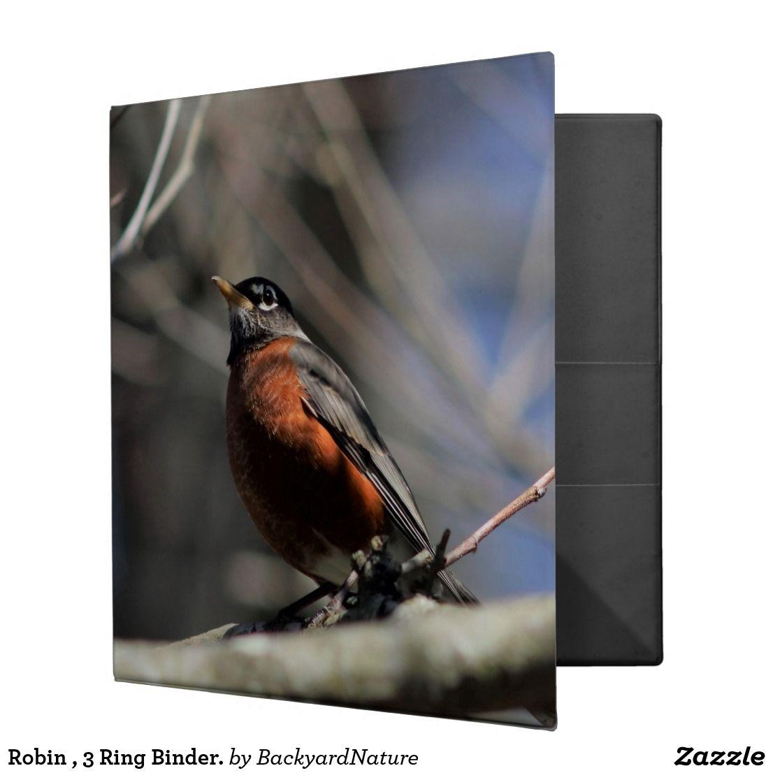 Robin , 3 Ring Binder. 3 Ring Binder