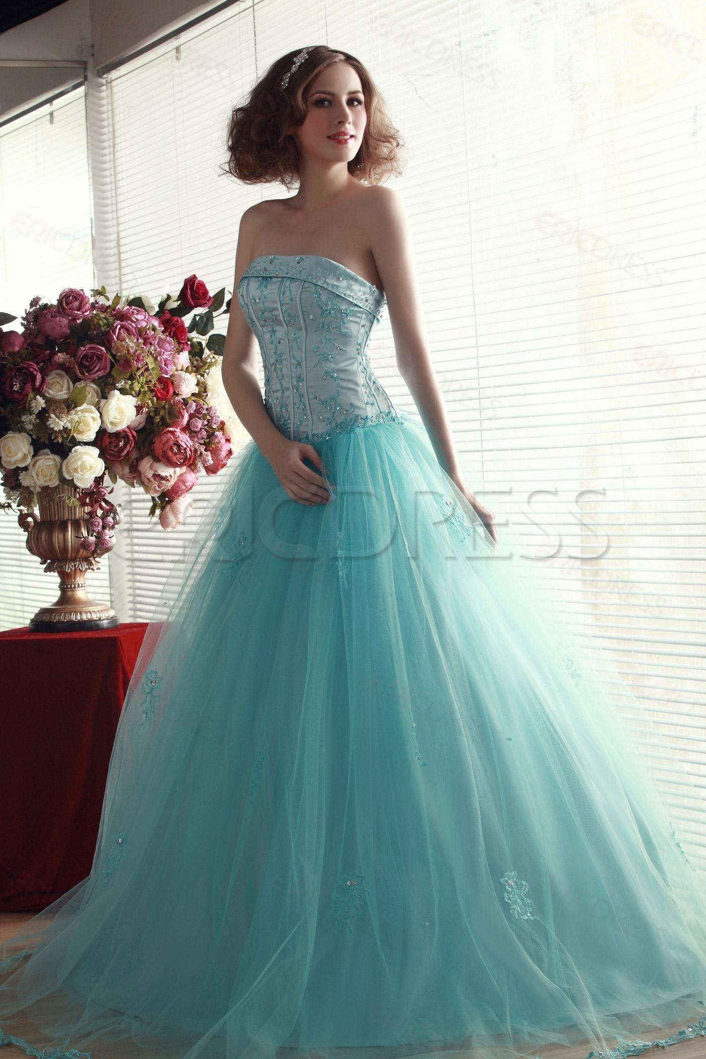 Fancy Ball Gown Floor-length Strapless Nadya\'s Quinceanera Dress 3 ...