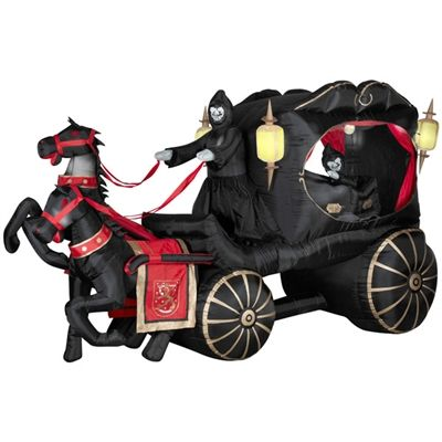 Airblown Hearse Carriage GEMMY HALLOWEEN  THANKSGIVING - lowes halloween inflatables
