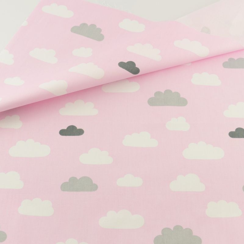 Decoration Tissue Home Textile Patchwork Sewing Cloth Craft Pink Cloud Cotton  Fabric Quilting Bedding Teramila Fabrics 96502c72b1d2